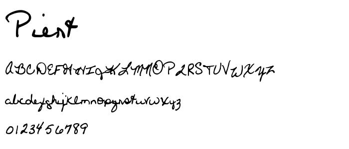 Piert font