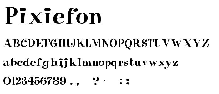Pixiefon font