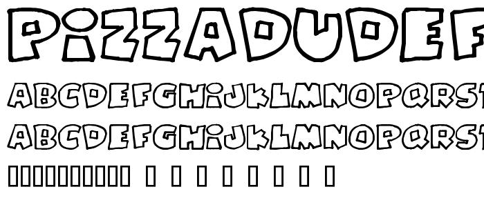 Pizzadudefatoutline font