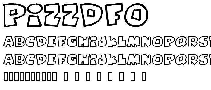 Pizzdfo font