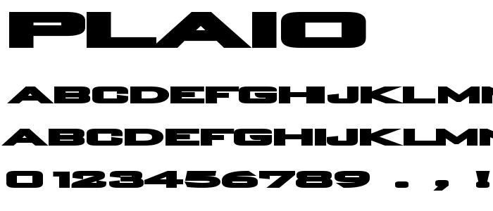 PLAIO___.TTF font
