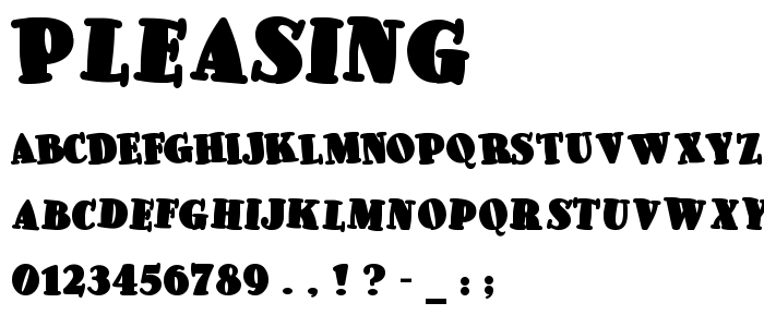 Pleasing font