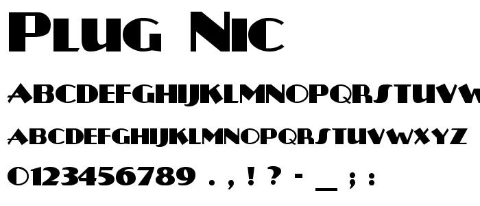 Plug Nic font
