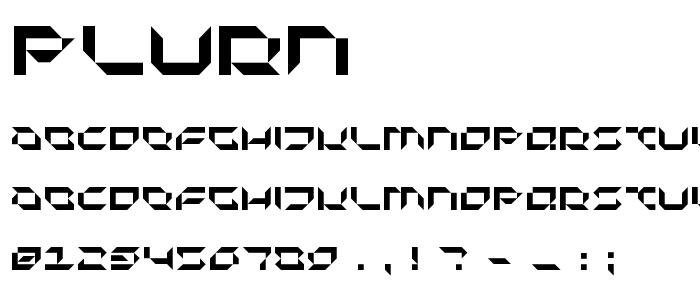 Plurn font
