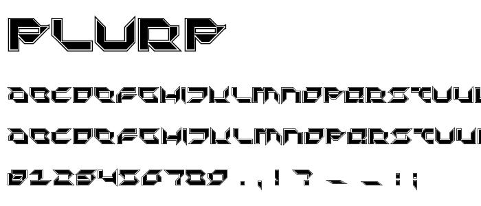 Plurp font