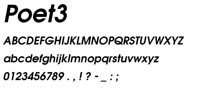 Poet3 font