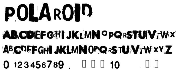 Polaroid font