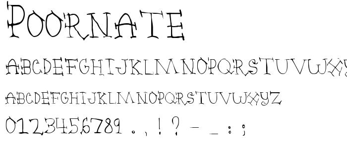 Poornate font