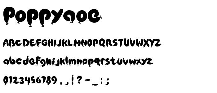 Poppyaoe font