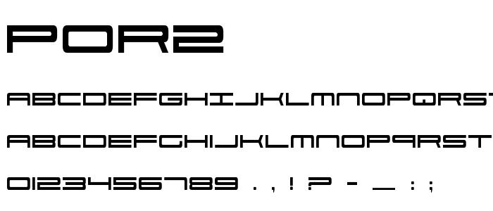Por2 font