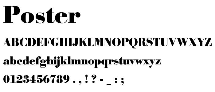 Poster font