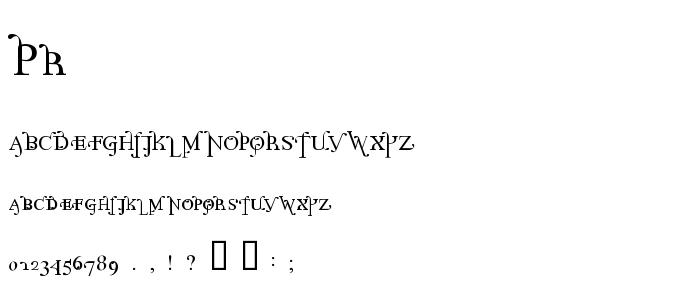 Pr font