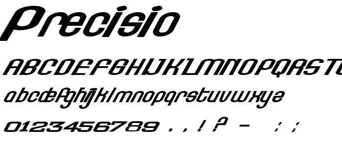 Precisio font