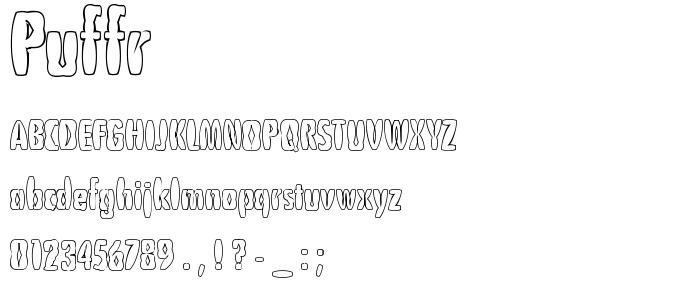 PUFFR___.TTF font