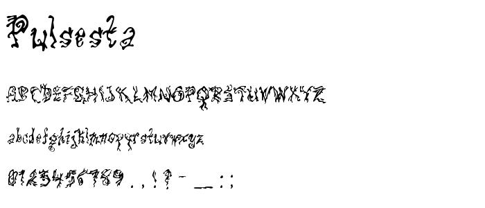 Pulsesta font