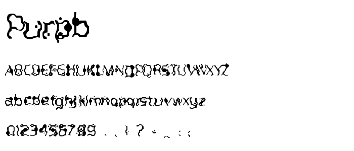 Purpb font