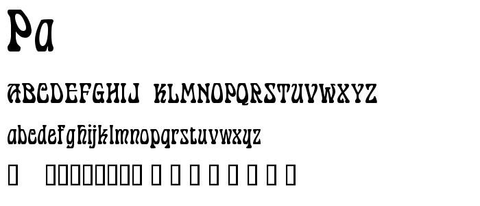 Pa font