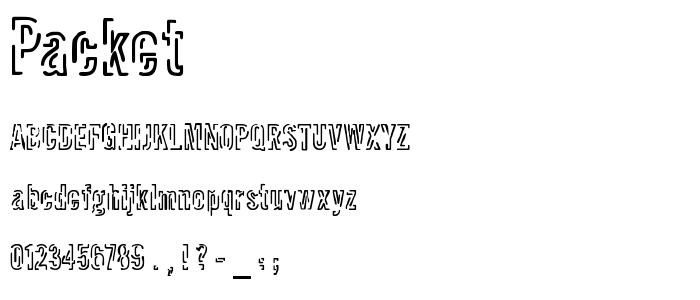 Packet.ttf font
