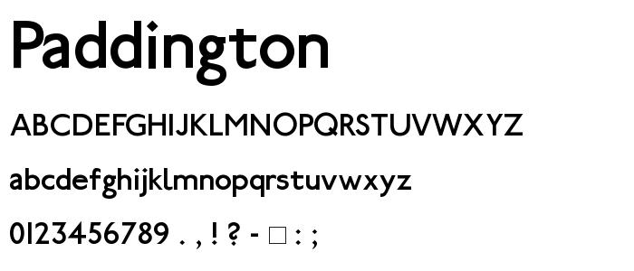Paddington font
