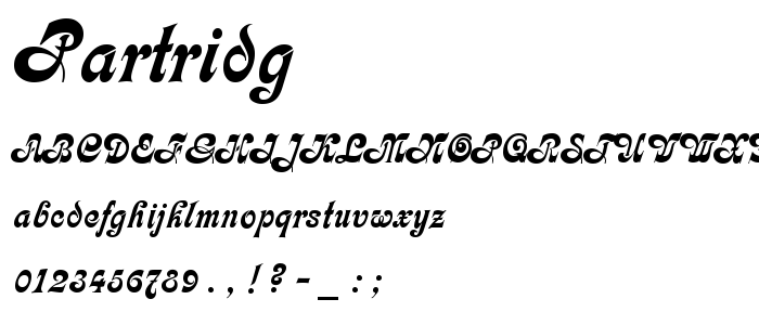Partridg.ttf font