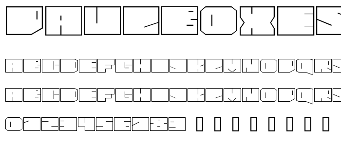 Paulboxes font