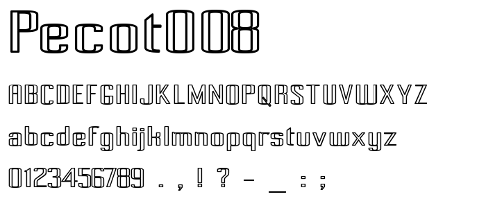 Pecot008 font
