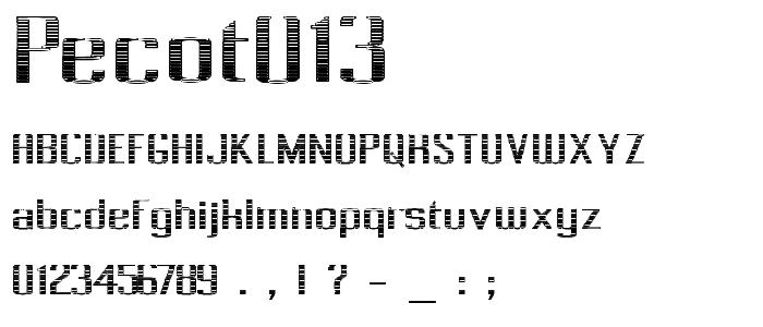 Pecot013 font