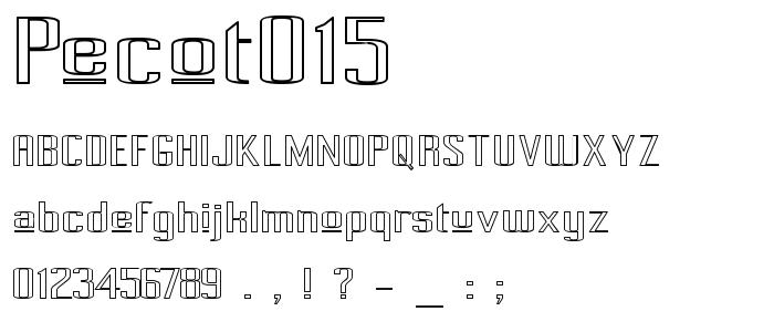Pecot015 font