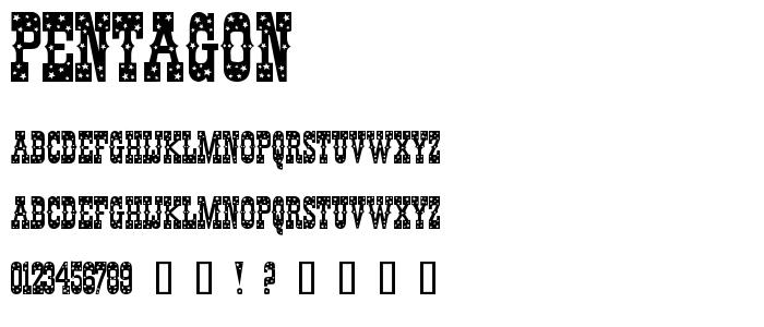 Pentagon font