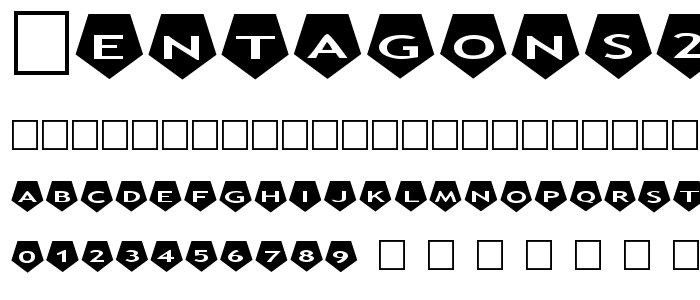 Pentagons2 font