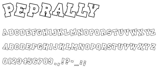 Peprally font
