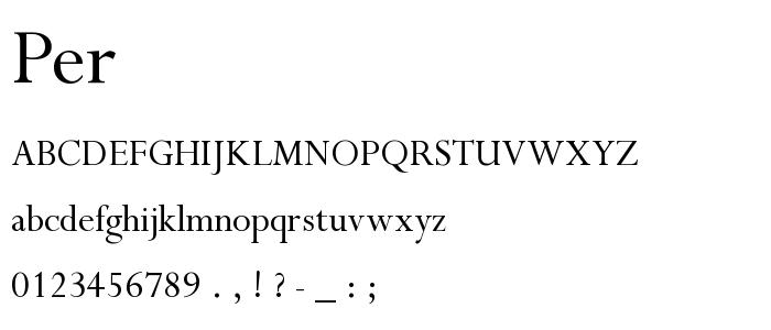 Per font