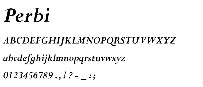 Perbi font