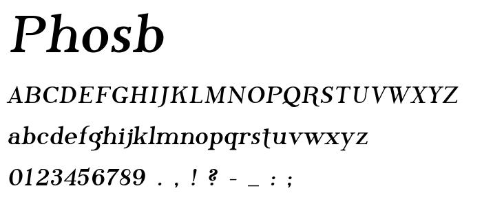 Phosb font