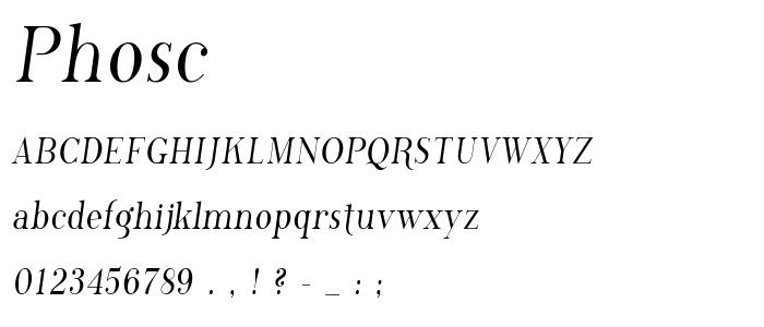 Phosc font