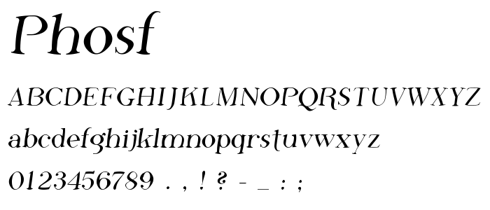 Phosf font