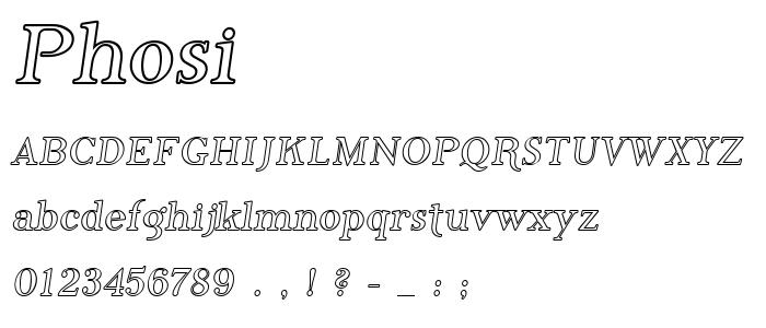 Phosi font