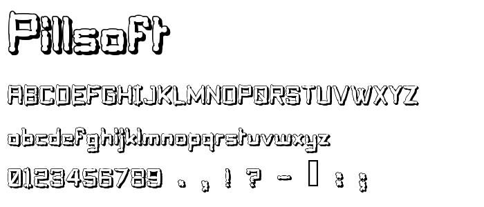 Pillsoft font