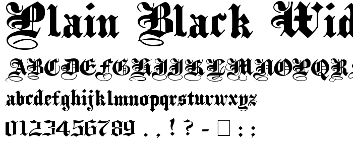 Plain Black Wide font