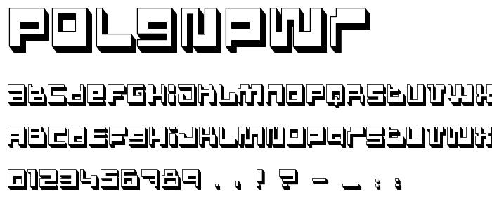 Polgnpwr font