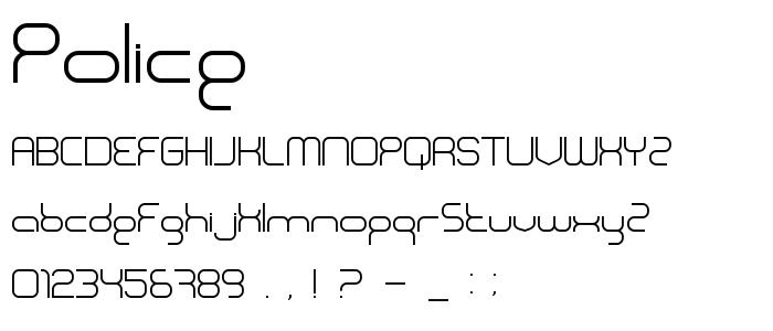 Police font