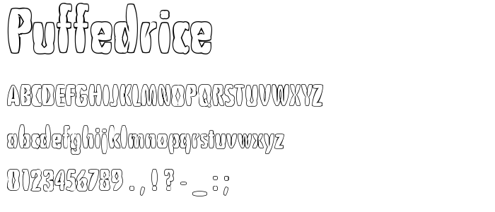 Puffedrice font