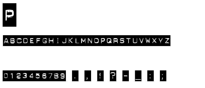 Punchlabel font