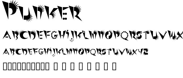 Punker font