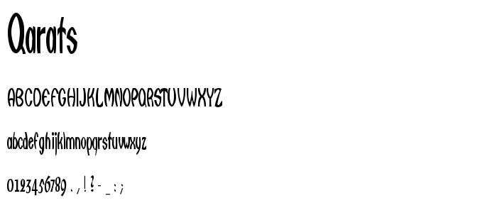 Qarats.ttf font