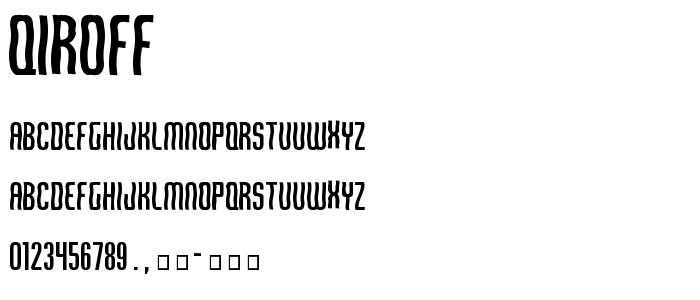 Qiroff.ttf font