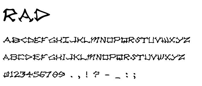 RAD.TTF font