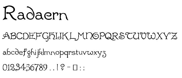 RADAERN.TTF font