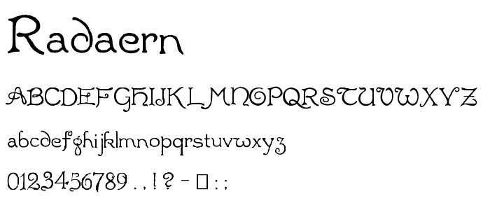 Radaern font