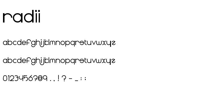Radii font